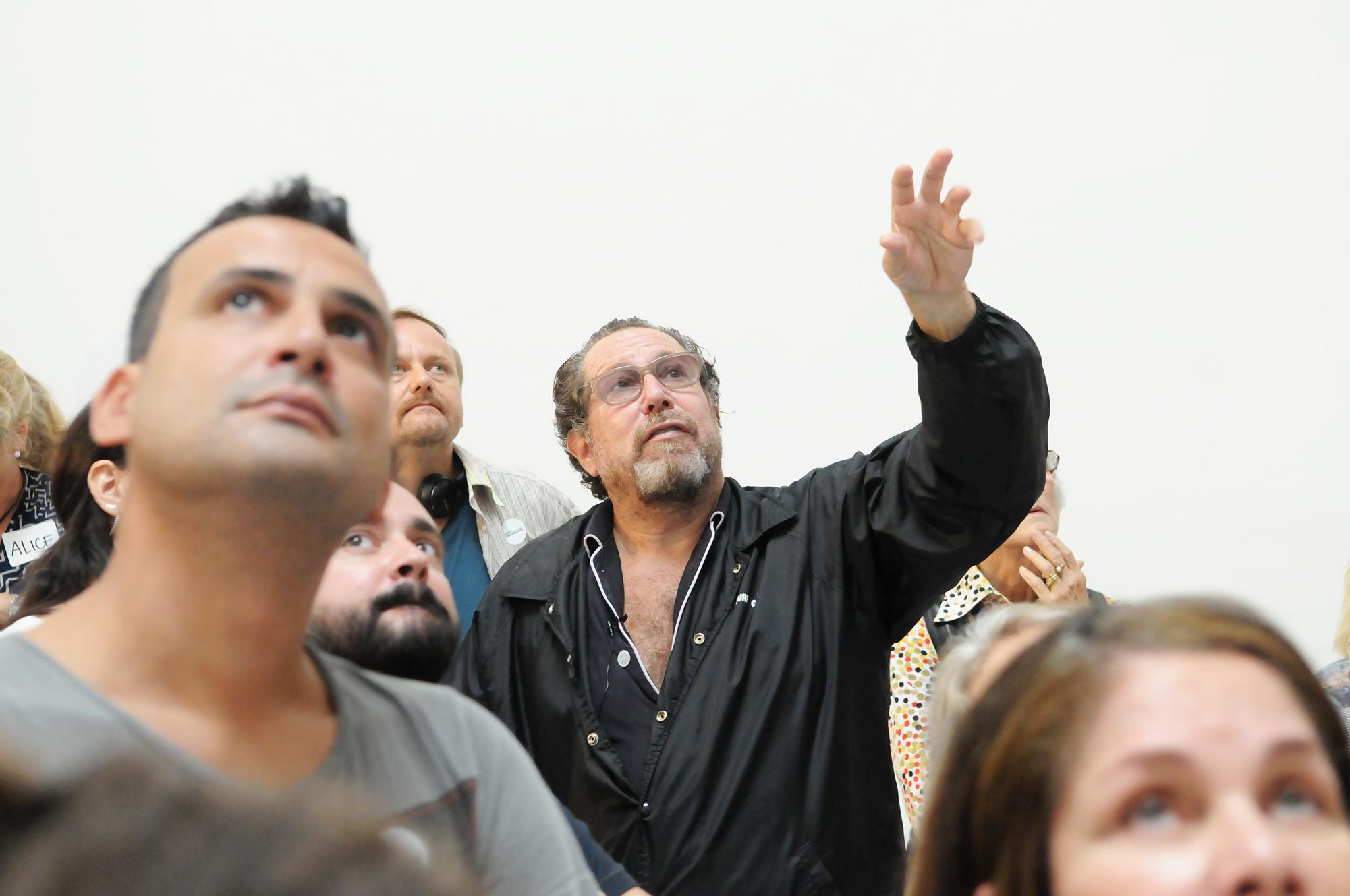 Julian Schnabel giving a tour