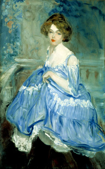 William J. Glackens Dancer in Blue, c. 1905 Oil on canvas Collection of NSU Art Museum Fort Lauderdale, Nova Southeastern University; Ira Glackens bequest 92.43