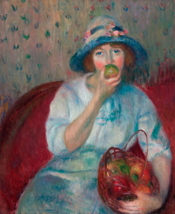 William J. Glackens Girl Eating a Green Apple, c. 1911 Oil on canvas Collection of NSU Art Museum Fort Lauderdale, Nova Southeastern University; promised gift of the Sansom Foundation.