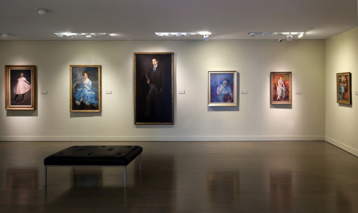 Glackens collection at NSU Art Museum; photo by Steven Brooke.