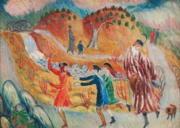 William J. Glackens, Children Roller Skating, after 1913, oil on canvas, NSU Art Museum Fort Lauderdale; gift of the Sansom Foundation© 2015 NSU Art Museum Fort Lauderdale