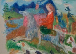 William J. Glackens, Study for The Dream Ride, c. 1923, Oil on canvas, Collection of NSU Art Museum Fort Lauderdale; gift of the Sansom Foundation,FIC7.2009.3 © 2015 NSU Art Museum Fort Lauderdale
