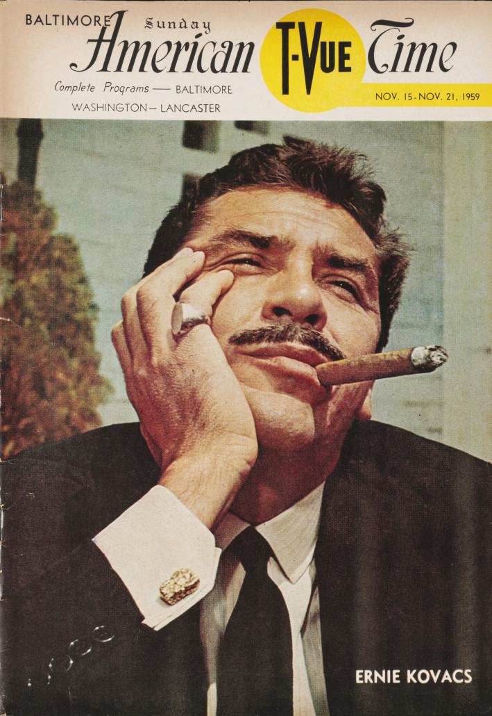 Ernie Kovacs on the cover of American T Vue Time, 1959