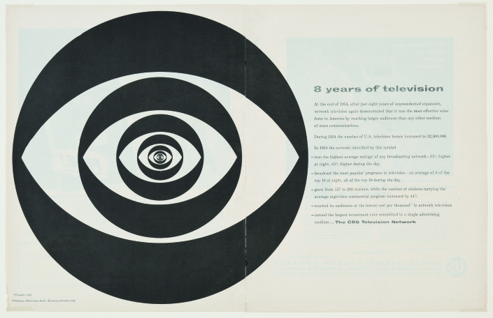 "Kurt Weihs, Designer, William Golden, Art Director, ""Concentric Eye,"" Fortune, February 1955"