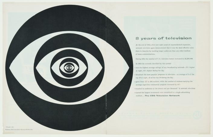 """Kurt Weihs, Designer, William Golden, Art Director, """"Concentric Eye,"""" Fortune, February 1955"""