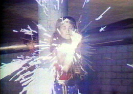 Dara Birnbaum, Still from Technology/Transformation: Wonder Woman, 1978-79 Video with sound Courtesy of the Artist and Electronic Arts Intermix