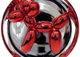 Koons-balloondogplate-red