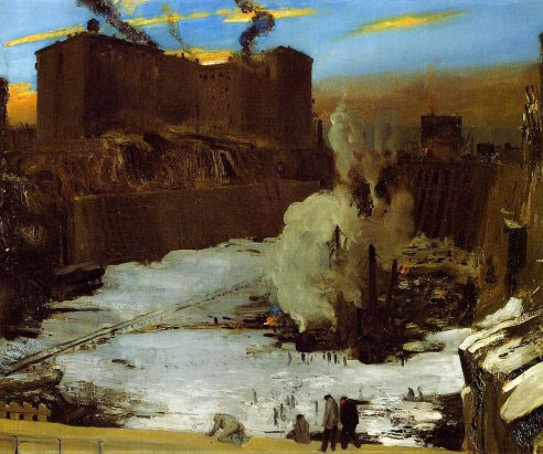 george bellows pennsylvania station excavation oil painting