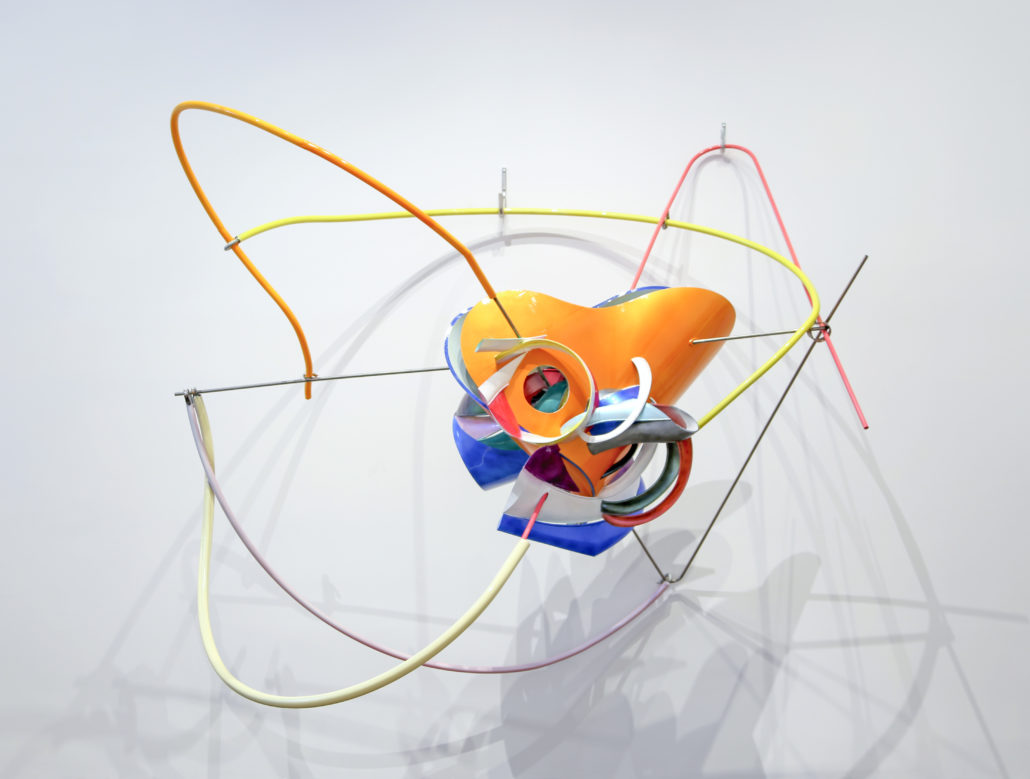 Frank Stella, K.144, 2013 ABS RPT with stainless steel Collection Martin Z. Margulies