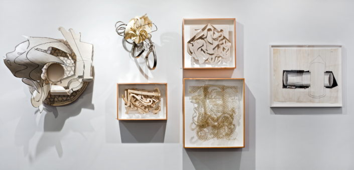 Installation view of Frank Stella : Experiment and Change at NSU Art Museum Fort Lauderdale, Gallery 14, Photo by Steven Brooke.