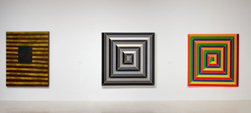 Installation view of Frank Stella: Experiment and Change at NSU Art Museum Fort Lauderdale, Gallery 2, Photo by Steven Brooke.