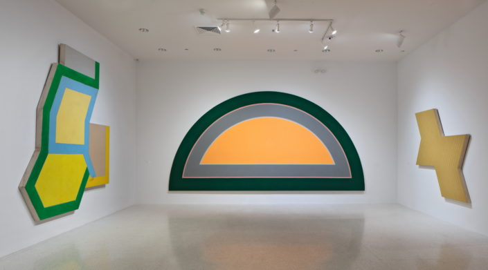 Installation view of Frank Stella: Experiment and Change at NSU Art Museum Fort Lauderdale, Gallery 3, Photo by Steven Brooke