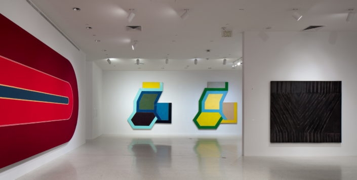 Installation view of Frank Stella: Experiment and Change at NSU Art Museum Fort Lauderdale, Gallery 4, Photo by Steven Brooke