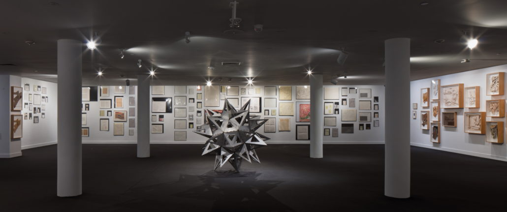 Installation view of Frank Stella: Experiment and Change at NSU Art Museum Fort Lauderdale, Gallery 14, Photo by Steven Brooke