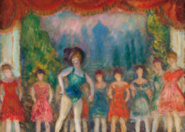 William Glackens, Study for Music Hall Turn, c. 1918, oil on canvas, NSU Art Museum Fort Lauderdale; bequest of Ira D. Glackens, 91.40.151