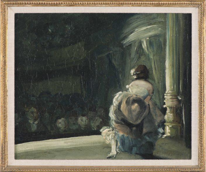 Everett Shinn, Curtain Call, n.d., oil on canvas, NSU Art Museum Fort Lauderdale; Bequest of Ira D. Glackens, 94.40.140
