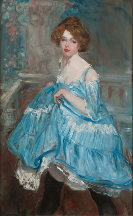 William J. Glackens, Dancer in Blue, c. 1905, oil on canvas, NSU Art Museum Fort Lauderdale; gift of the Sansom Foundation, 92.43
