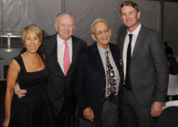 Bonnie Clearwater with Frank Stella and other guests at the Stella Dinner.