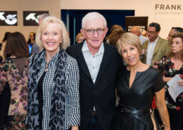 Bonnie Clearwater with guests at the NSU Art Museum Frank Stella opening