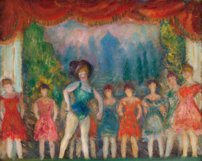 William J. Glackens Study for Music Hall Turn, c. 1918 Oil on canvas NSU Art Museum Fort Lauderdale; bequest of Ira D. Glackens, 91.40.151