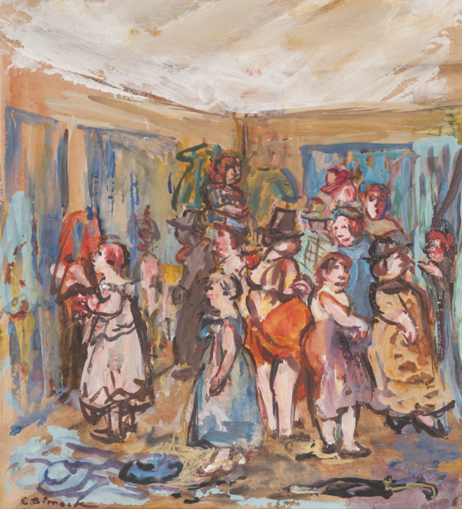 Edith Dimock Untitled (Mrs. Roosevelt at Kleins'), n.d. watercolor NSU Art Museum Fort Lauderdale; gift of the Sansom Foundation