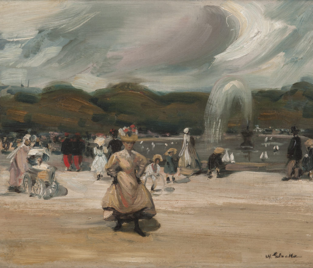 William J. Glackens In the Luxembourg, c. 1896 Oil on canvas NSU Art Museum Fort Lauderdale; bequest of Ira D. Glackens