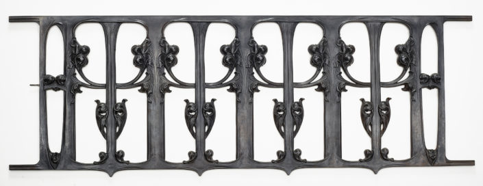 Hector Guimard Prototype Balustrade: Orchids and Tendrils), c. 1910 Cast iron Lent by The Wolfsonian-Florida International University, Miami Beach, Florida, The Mitchell Wolfson, Jr. Collection