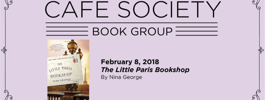 Cafe Society Book Group February 8 Little Paris Bookshop By Nina George