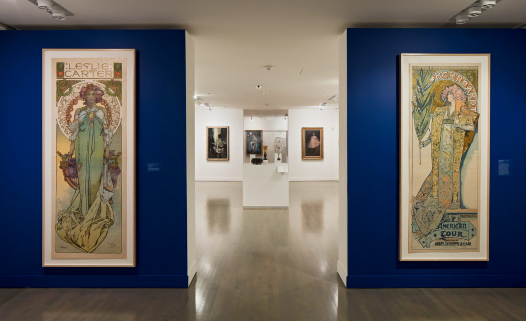 Installation view of Midnight in Paris & New York: Scenes from the 1890s - 1930s at NSU Art Museum Fort Lauderdale. Photo by Steven Brooke.