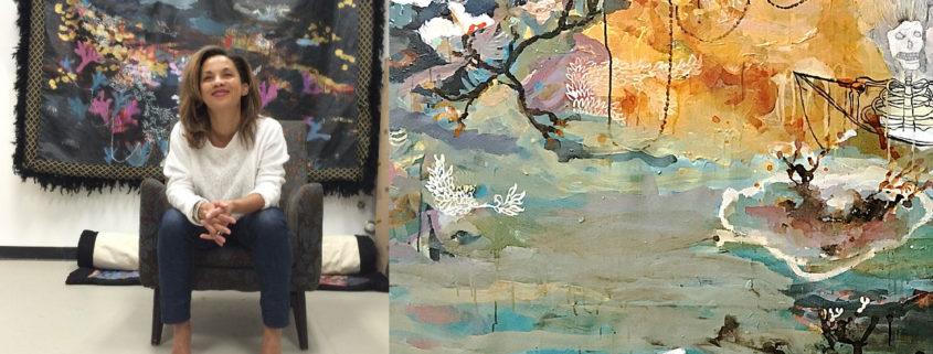 Artist Marielle Plaisir and Art Work