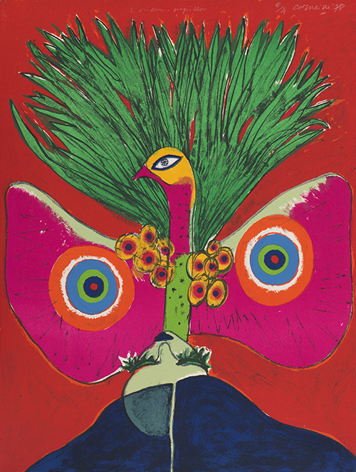 Corneille, The Butterfly Bird (L'Oiseau papillon), 1978, color lithograph, ed. E/A, NSU Art Museum Fort Lauderdale; Cobra Collection; gift of Golda and Meyer Marks, M-117
