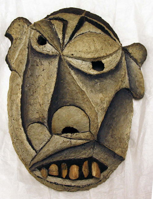 Eugéne Brands, Mask, 1946, mixed media (paper-mache, cork, shells), NSU Art Museum Fort Lauderdale; Cobra Collection; gift of Golda and Meyer Marks, M-352