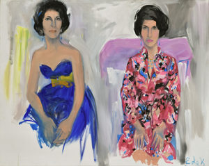 Elaine de Kooning Double Portrait of Selima Stavola, late 1940s - early 1950s Oil on canvas 47 ¾ x 59 ¾ inches NSU Art Museum Fort Lauderdale; courtesy of Anthony R. Stavola and Claire Hunter in loving memory of their mother Selima, 2016.42 © Elaine de Kooning Trust