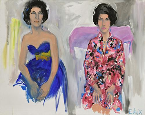 Elaine de Kooning Double Portrait of Selima Stavola