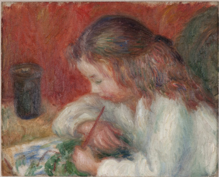 William J. Glackens, Lenna Painting, c. 1918, oil on canvas, NSU Art Museum Fort Lauderdale; bequest of Ira D. Glackens, 91.40.118