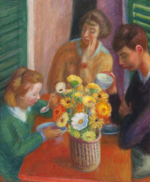 William J. Glackens, Breakfast Porch, 1925, oil on canvas, NSU Art Museum Fort Lauderdale; gift of the Sansom Foundation