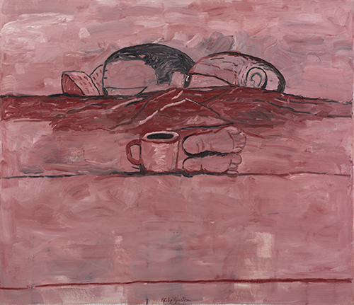 Philip Guston Afloat, 1975 Oil on canvas 68 x 80 in. NSU Art Museum Fort Lauderdale; gift of Musa Guston, 92.21 © The Estate of Philip Guston, courtesy Hauser & Wirth