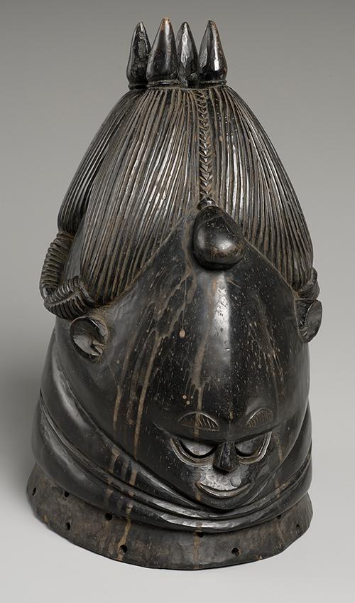 Unidentified Artist Helmet Mask of the Women's Bundu or Santa Society, n.d. Wood 14 1/2 x 8 x 10 1/2 in. NSU Art Museum Fort Lauderdale; gift of Morris and Sylvia Ivanhoe A2002.1.9