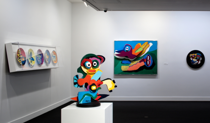 Installation View of Remember to React: 60 years of Collecting at NSU Art Museum Fort Lauderdale. Photo by Steven Brooke.