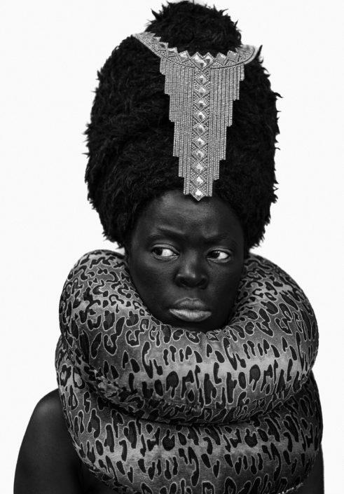 Zanele Muholi Xiniwe II at Cassilhaus, North Carolina, 2016 Gelatin silver print 80 x 55.5cm NSU Art Museum Fort Lauderdale; purchased with funds provided by Michael and Diane Bienes by exchange © Zanele Muholi. Courtesy of Stevenson, Cape Town/Johannesburg and Yancey Richardson, New York