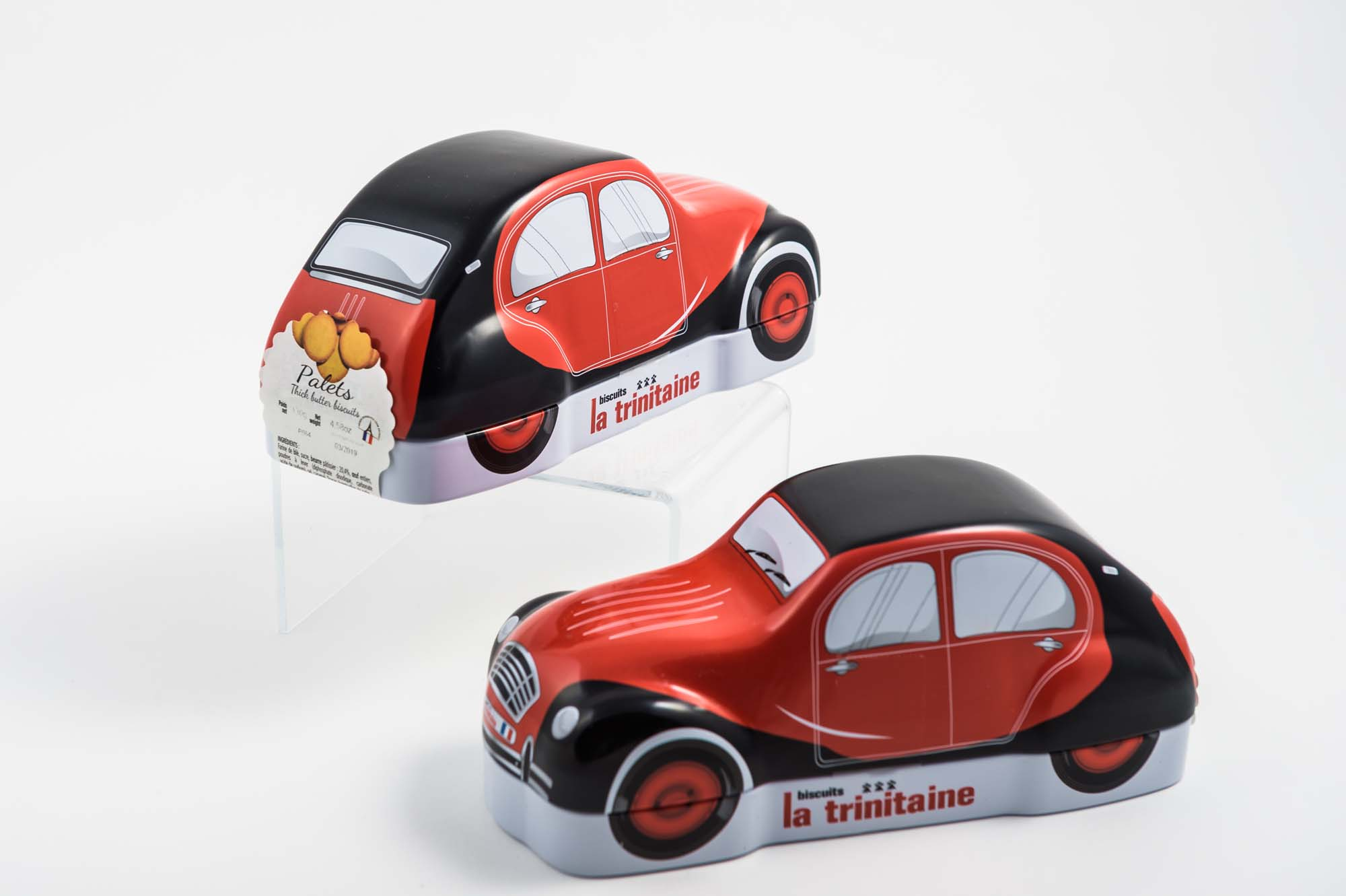 French Car Tins with Cookies