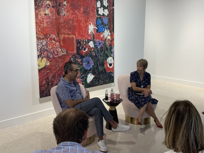 Enoc Perez and Bonnie Clearwater at Gavlak Gallery in Palm Beach