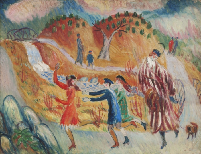 William J. Glackens, Children Roller Skating, c. 1913.
