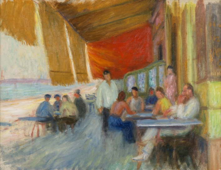 William J. Glackens, Outdoor Café, c. 1932.