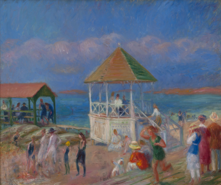 William J. Glackens, The Bandstand, 1919.