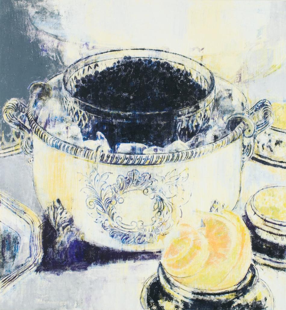 Oil on canvas Framed: 86 3/4 in x 80 3/4 in x 4 1/4 in / 220.345 cm x 205.105 cm x 10.795 cm; Object: 81 in x 75 in / 205.74 cm x 190.5