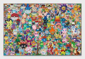 """FriendsWithYou """"Unified Field II"""", 2019 Plastiline clay in plexiglass frame 120 x 2 x 80 inches"""