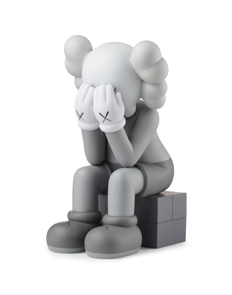 KAWS(b. 1974, Jersey City, NJ; lives and works in Brooklyn, NY) COMPANION (Passing Through), 2011 Painted bronze 48 x 25 inches Collection of the Artist © KAWS