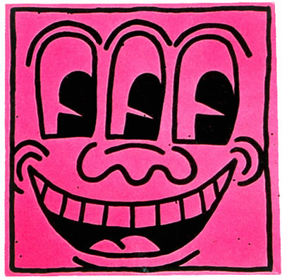 Keith Haring (b. 1958, Reading, PA; d. 1990, New York, NY) Untitled (Pink Smiling Face), 1981 Baked enamel on sheet metal 48 x 48 inches Private Collection Courtesy The Brant