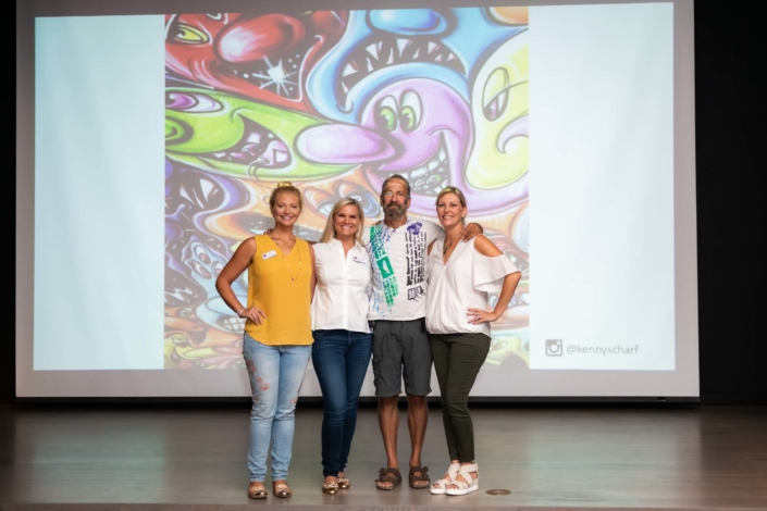 Kenny Scharf at NSU Art Museum's Museum on the Move